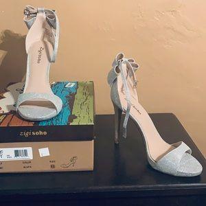 ZigiSoho Remi Silver Formal Heels!